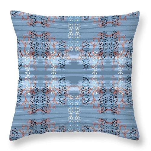 Light Blue Throw Pillow featuring the digital art Bella Jin Steele by Ceil Diskin