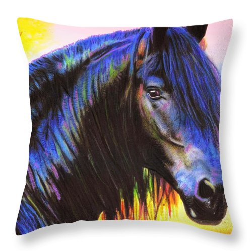 Bella Throw Pillow featuring the painting Bella by Wbk