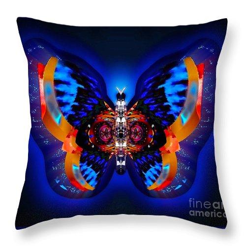 Belladonna Throw Pillow featuring the digital art Belladonna Gemdew by Raymel Garcia