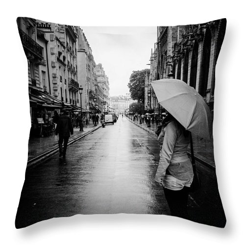 Street Throw Pillow featuring the photograph Belonging by Andrea Letzner