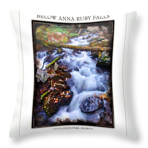 Landscape Throw Pillow featuring the photograph Below Anna Ruby Falls by Peter Muzyka