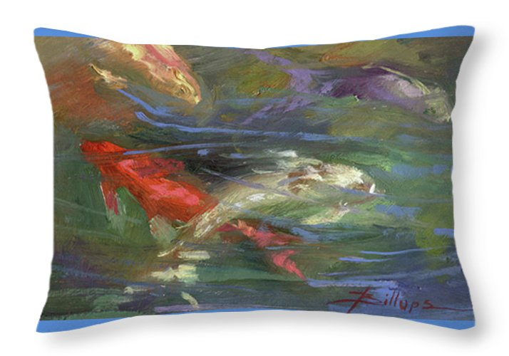 Plein Air Throw Pillow featuring the painting Below The Surface by Betty Jean Billups