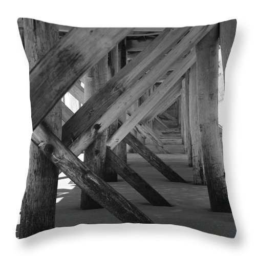 Throw Pillow featuring the photograph Beneath The Docks Day by Jamie Lynn