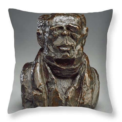 Throw Pillow featuring the photograph Benjamin Delessert by Honor? Daumier