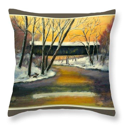 Kentucky Throw Pillow featuring the painting Bennett by Gail Kirtz