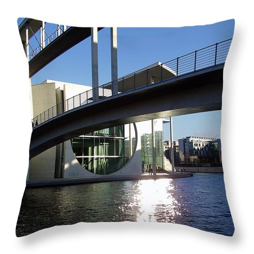 Marie-elisabeth-lueders Throw Pillow featuring the photograph Berlin by Flavia Westerwelle