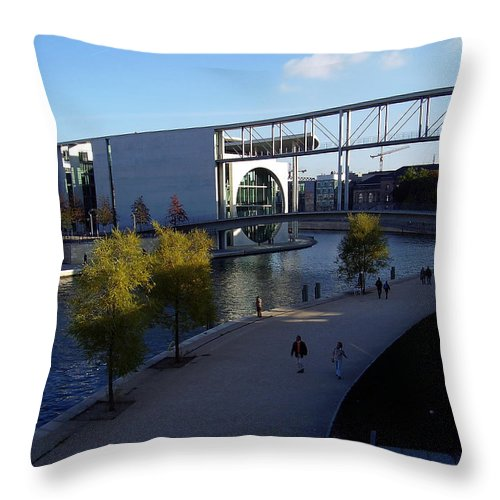 Paul-loebe Throw Pillow featuring the photograph Berlin II by Flavia Westerwelle