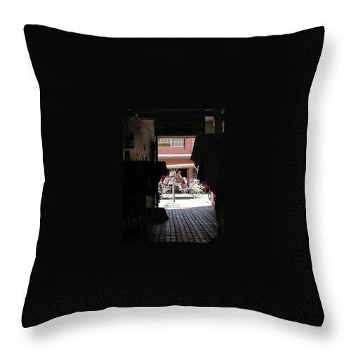 Bermuda Throw Pillow featuring the photograph Bermuda Carriage by Ian MacDonald
