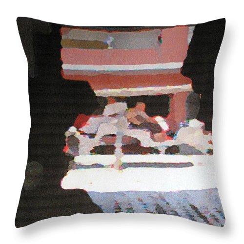 Bermuda Throw Pillow featuring the photograph Bermuda Carriage Impressions by Ian MacDonald