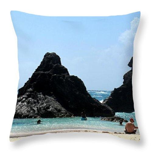 Bermuda Throw Pillow featuring the photograph Bermuda Day At The Beach by Ian MacDonald