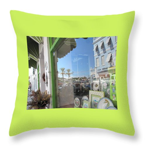 Bermuda Throw Pillow featuring the photograph Bermuda Reflections And Contrasts by Ian MacDonald