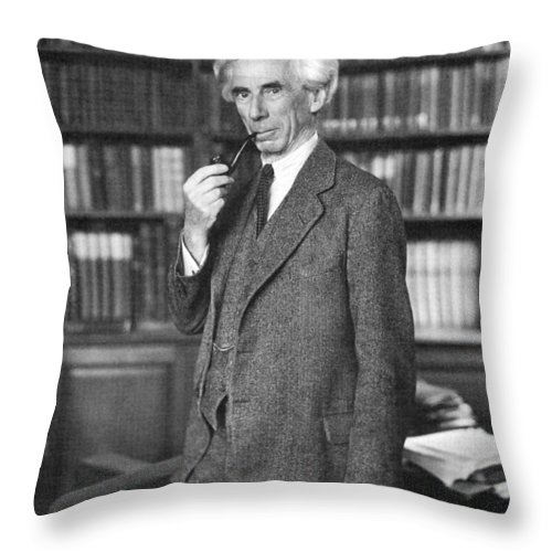 1935 Throw Pillow featuring the photograph Bertrand Russell by Granger