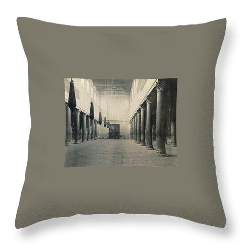 Bethlehem Throw Pillow featuring the photograph Bethlehem - Nativity Church Year 1867 by Munir Alawi