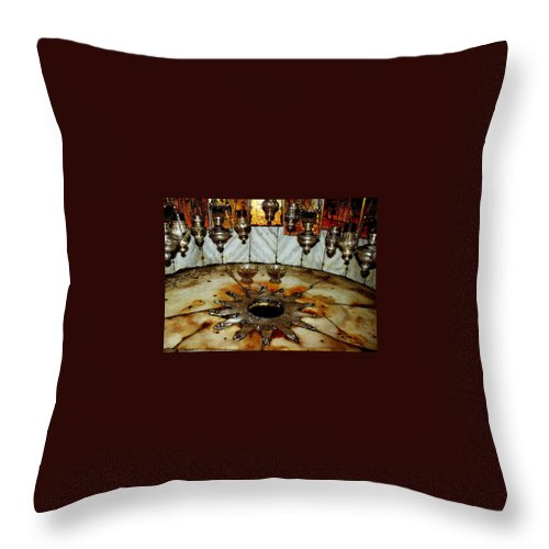Nativity Throw Pillow featuring the photograph Bethlehem Star by Munir Alawi