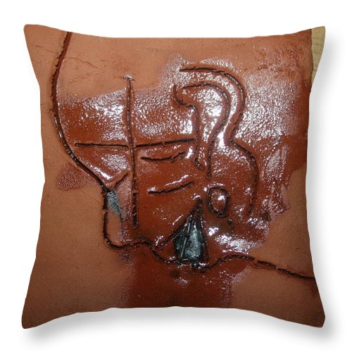 Jesus Throw Pillow featuring the ceramic art Betrayal - Tile by Gloria Ssali
