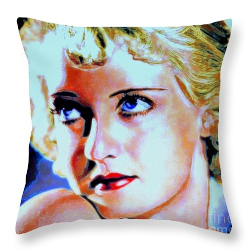 Bette Throw Pillow featuring the painting Bette by Wbk