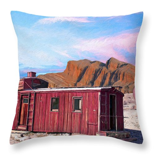 Better Days Throw Pillow featuring the painting Better Days by Dominic Piperata