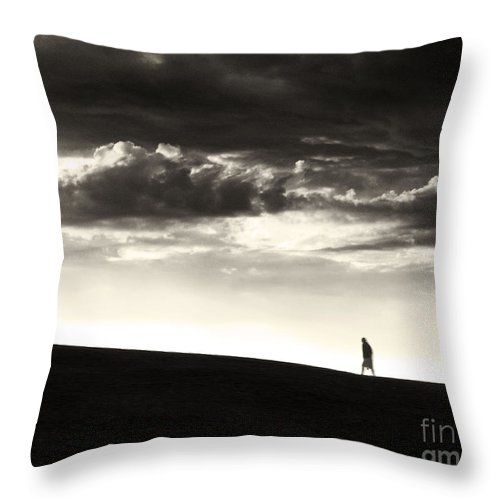 Man Throw Pillow featuring the photograph Between Living And Dying by Dana DiPasquale