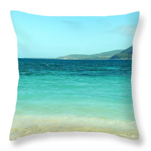 St Kitts Throw Pillow featuring the photograph Between Nevis And St Kitts by Ian MacDonald