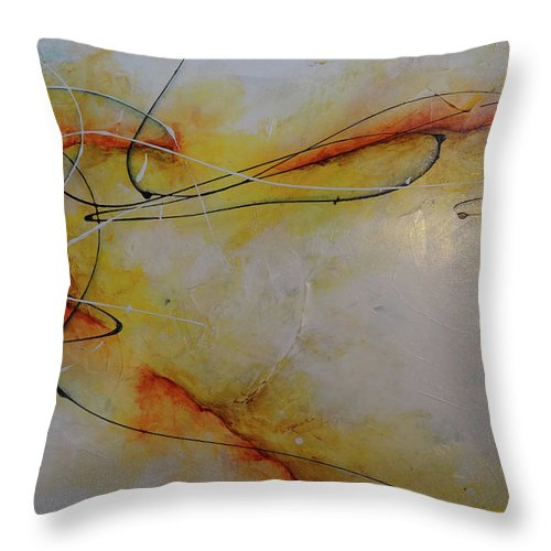 Art Throw Pillow featuring the painting Between You And Me by Bradley Carter