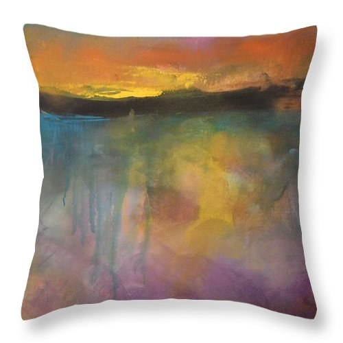 Abstract Throw Pillow featuring the painting Beyond 3 by Terri Davis