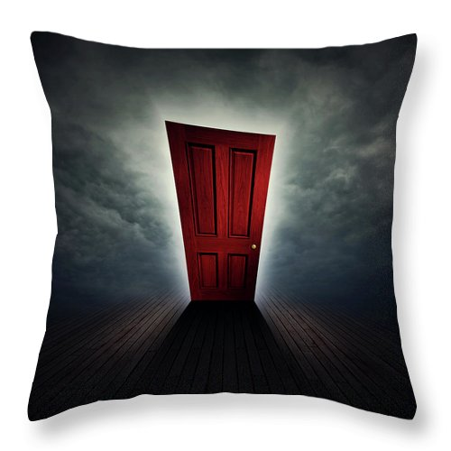 Cloud Throw Pillow featuring the digital art Beyond A Dream by Zoltan Toth