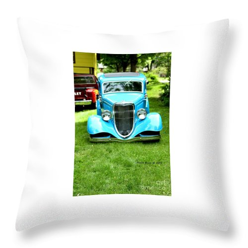 Classic Vintage Auto Automobile Car Life Photograph Collect Collection Throw Pillow featuring the photograph Beyond Classic. by Stevie Ellis