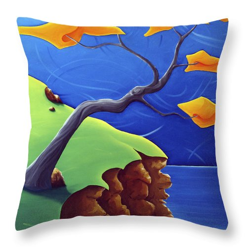 Landscape Throw Pillow featuring the painting Beyond Limitations by Richard Hoedl