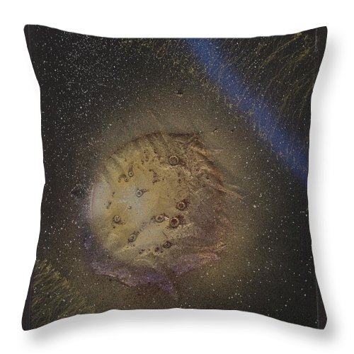Glass Throw Pillow featuring the painting Beyond by Rick Silas