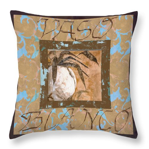 Decor Throw Pillow featuring the painting Bianco Vinaccia by Guido Borelli