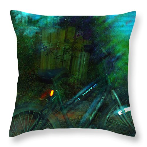 Clay Throw Pillow featuring the photograph Bicycle by Clayton Bruster
