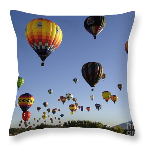 Flight Throw Pillow featuring the photograph Big Balloons by Mary Rogers