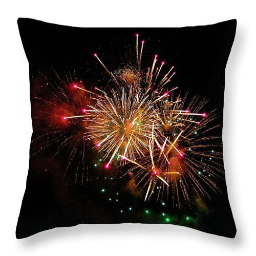 Fireworks Throw Pillow featuring the photograph Big Bang by Mark Lemon