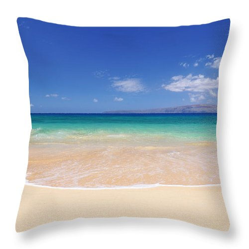 Big Beach Throw Pillow featuring the photograph Big Beach by Kelly Wade