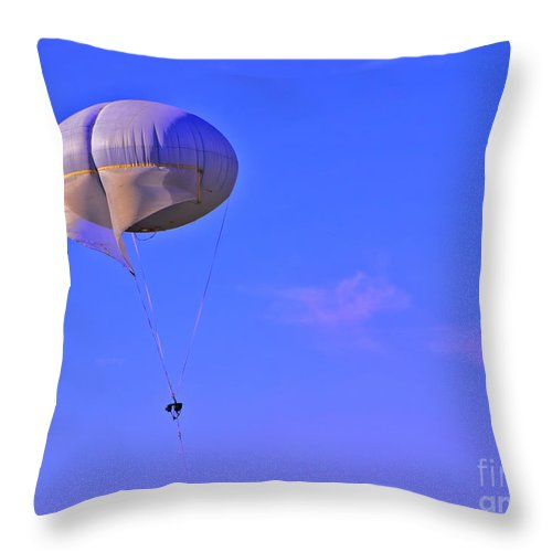 Parachute Throw Pillow featuring the photograph Big Brother's Parachute by Madeline Ellis