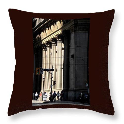Toronto Throw Pillow featuring the photograph Big City Girls by Ian MacDonald