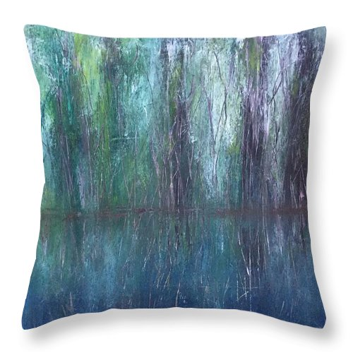 Florida Throw Pillow featuring the painting Big Cypress Swamp by Swess