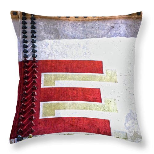 Letter Throw Pillow featuring the photograph Big Letter E by Carol Leigh