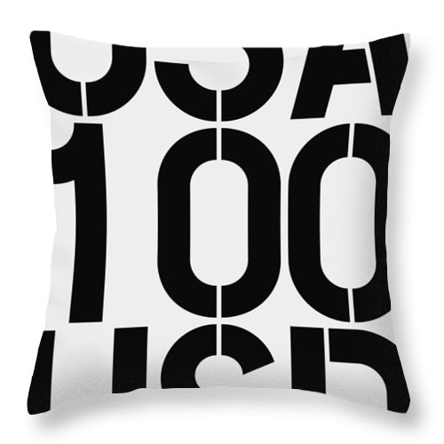 Big Throw Pillow featuring the painting Big Money 100 Usd by Three Dots