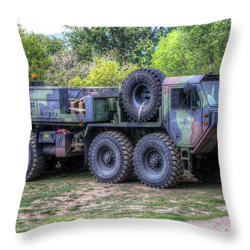 Big Nasty Throw Pillow featuring the photograph Big Nasty by Wild Fire