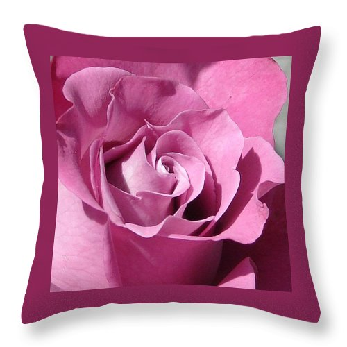 Rose Pink Throw Pillow featuring the photograph Big Pink by Luciana Seymour
