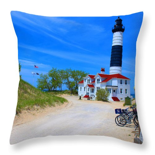 Lighthouse Throw Pillow featuring the photograph Big Sable Point Lighthouse by Michael Rucker