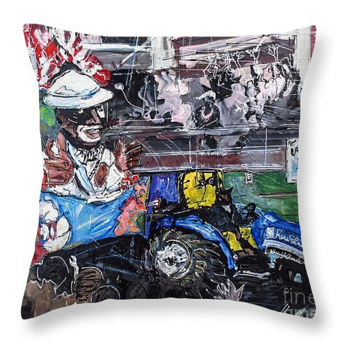Big Shot Throw Pillow featuring the painting Big Shot by Paula Baker