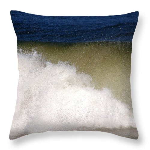 Waves Throw Pillow featuring the photograph Big Waves by Susanne Van Hulst