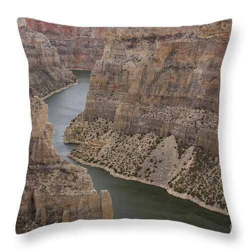 Canyon Throw Pillow featuring the photograph Bighorn Canyon by Idaho Scenic Images Linda Lantzy