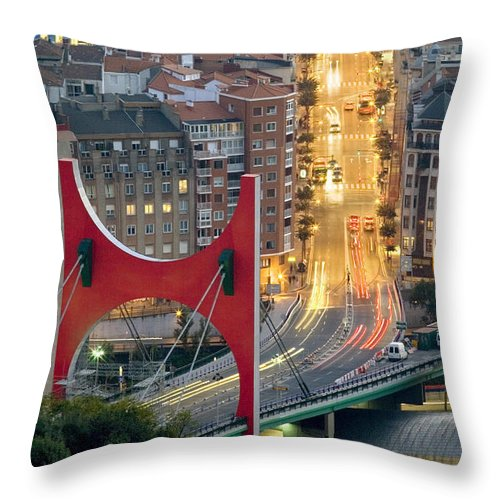 Spain Throw Pillow featuring the photograph Bilbao Street by Rafa Rivas