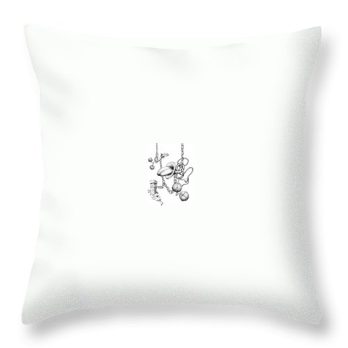 Relationahip Throw Pillow featuring the drawing Binding Relationship by Sam Sidders