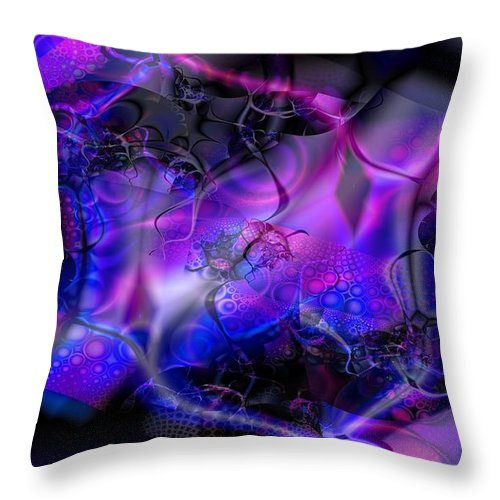 Bioluminescence Throw Pillow featuring the digital art Biolumineon by Ron Bissett