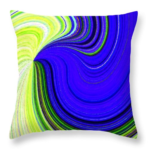 Abstract Throw Pillow featuring the digital art Bionetwork Flow by Will Borden