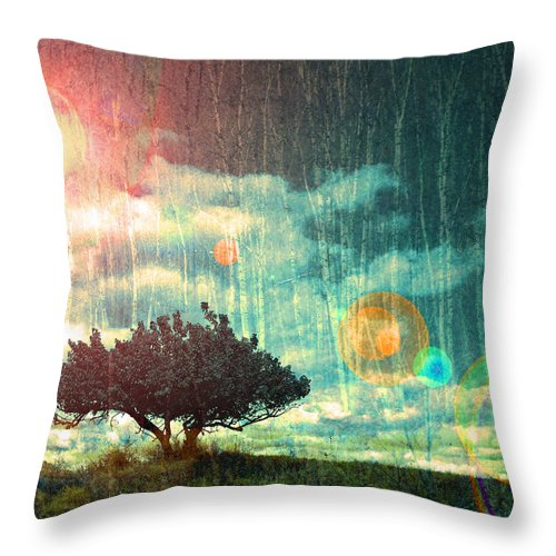 Light Throw Pillow featuring the photograph Birch Dreams by Tara Turner